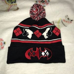 c420b0be609ca Spencer s. Harley Quinn Pompom Winter Hat